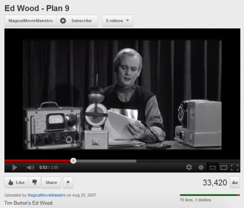 IMAGE- Bill Murray explains Ed Wood's 'Plan 9 from Outer Space'- 'Plan 9 deals with the resurrection of the dead.'