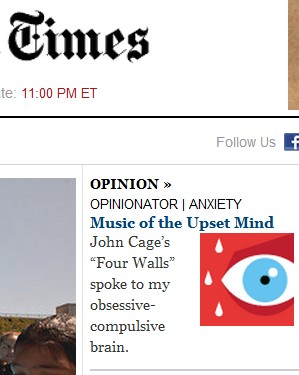 IMAGE- NY Times, 'Music of the Upset Mind'