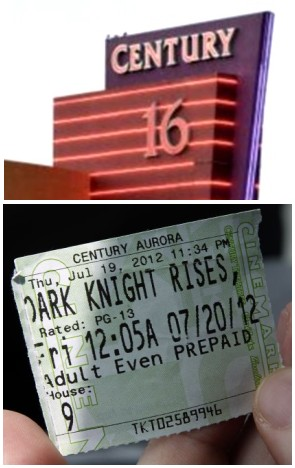 IMAGE- Century 16 Theater, Aurora, CO, with ticket for House 9 on July 20, 2012