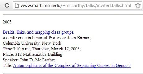 IMAGE- St. Patrick's Day 2005 talk at Columbia by John D. McCarthy