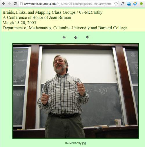 IMAGE- John D. McCarthy at Birman conference, March 15-20, 2005