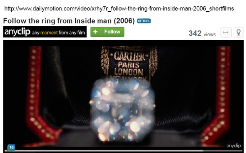 IMAGE- The Cartier diamond ring from 'Inside Man'