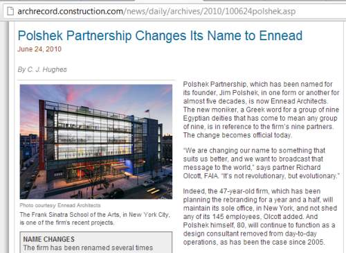 IMAGE- The naming of Ennead Architects