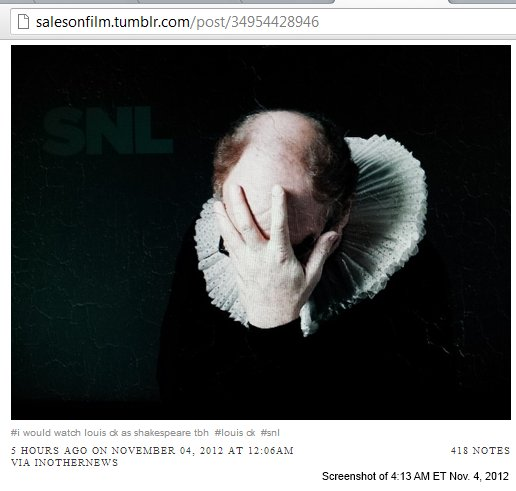 IMAGE- Louis C. K. as Shakespeare on SNL