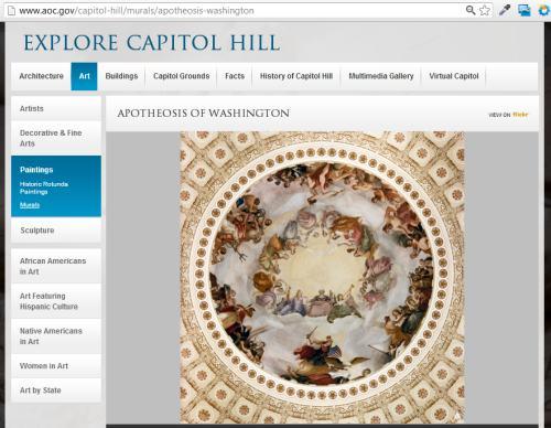 IMAGE- Blasphemous interior of the U.S. Capitol Dome