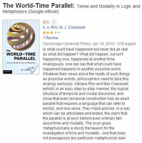 IMAGE- 'The World-Time Parallel' (cover: spirals on sphere, by Escher)
