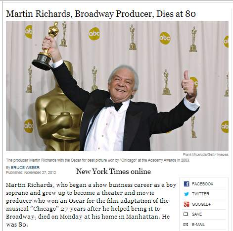 IMAGE- An Oscar for 'Chicago'