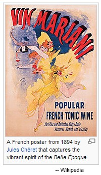 IMAGE- 'Vin Mariani' poster illustrating the Belle Époque