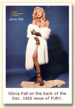 IMAGE- Gloria Pall on back cover of FURY, Dec. 1955