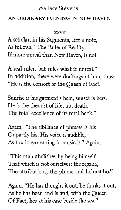 Stevens on 'the Ruler of Reality'