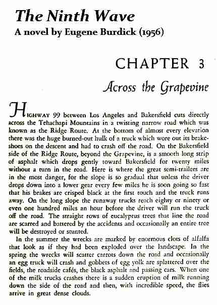 IMAGE- 'The Ninth Wave,' first page of Ch. 3, 'Across the Grapevine'