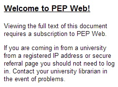 IMAGE- Psychoanalytic Electronic Publishing (PEP) access statement