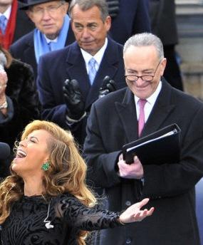 IMAGE- Inauguration 2013: Schumer, Binder, Beyoncé