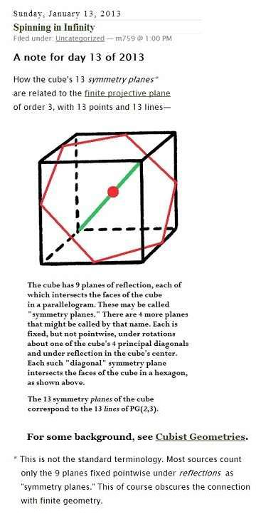 IMAGE- Redefining the cube's symmetry planes: 13 planes, not 9.