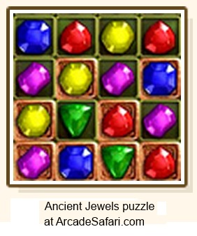 IMAGE- 4x4 array in 'Ancient Jewels' puzzle