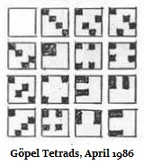 IMAGE- Göpel tetrads in an inscape, April 1986