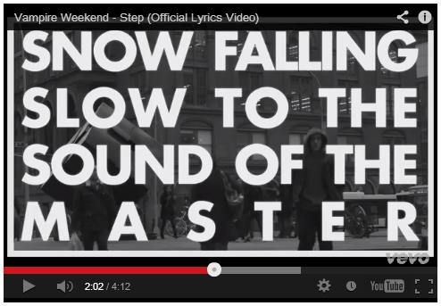 IMAGE- Vampire Weekend lyric: 'Snow falling slow to the sound of the master'