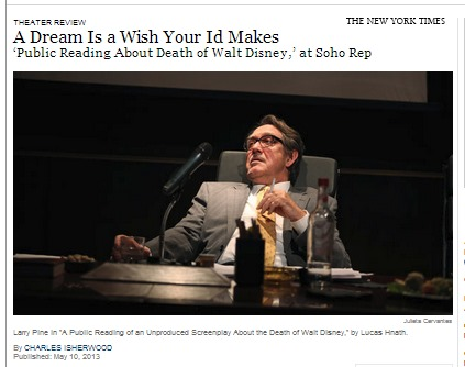 IMAGE- Actor playing Walt Disney in NY Times piece titled 'A Dream Is a Wish Your Id Makes'