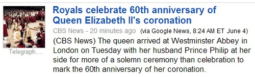 IMAGE- 'Royals celebrate 60th anniversary of Queen Elizabeth II's coronation'