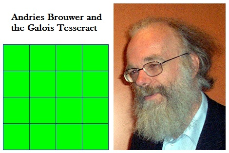 IMAGE- Andries Brouwer and the Galois Tesseract