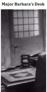 IMAGE- Detail of Major Barbara's desk (from the 1941 Gabriel Pascal film)