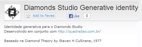 IMAGE- 'Diamonds Studio Generative Identity,' an OpenProcessing project from Brazil