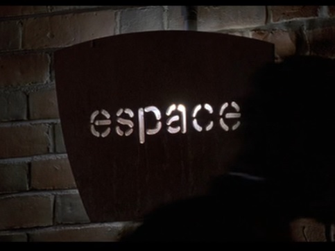 IMAGE- 'espace' sign from the film 'American Psycho'