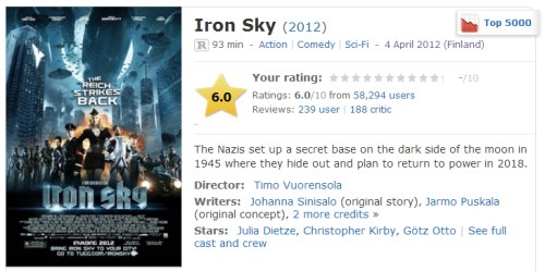IMAGE- 'Iron Sky'- The Nazis set up a secret base on the dark side of the moon.