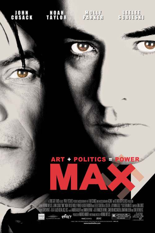IMAGE- Poster for film 'MAX'- 'Art + Politics = Power'