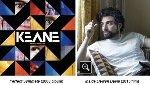 IMAGE- Album cover, 'Perfect Symmetry' by Keane, with Oscar Isaac in 'Inside Llewyn Davis'