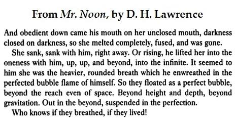 Excerpt from 'Mr. Noon,' by D.H. Lawrence