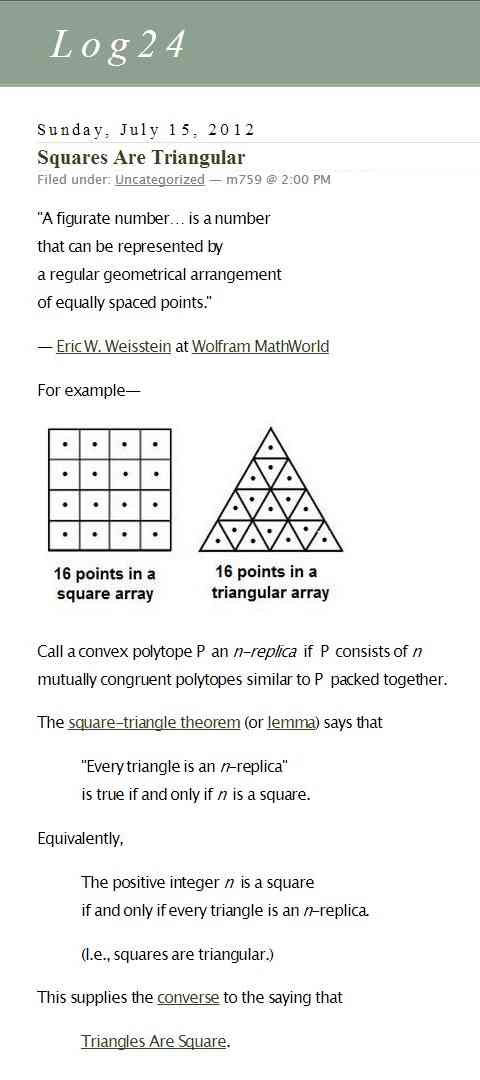 IMAGE- Squares, triangles, and figurate numbers