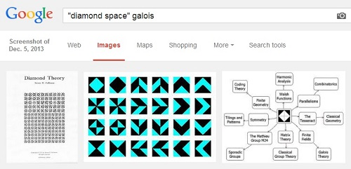 IMAGE- Google search for 'Diamond Space' + Galois