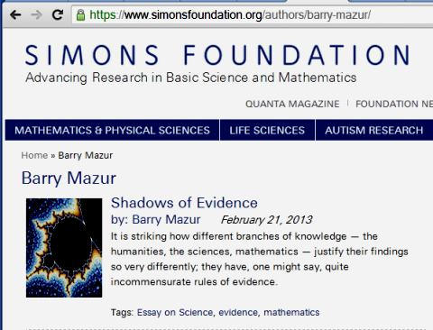 IMAGE- 'Shadows of Evidence,' by Barry Mazur