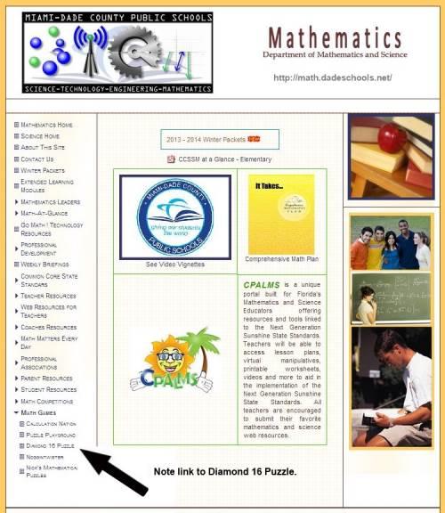 IMAGE- Miami/Dade County schools page