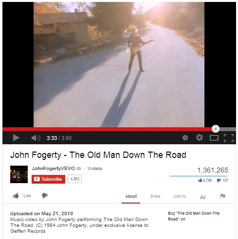 IMAGE- 'Old Man Down the Road' video