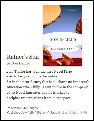 IMAGE- 'Ratner's Star,' by Don DeLillo (1976)