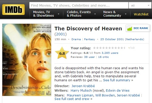 IMAGE- The 2001 film 'The Discovery of Heaven'