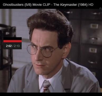 IMAGE- Harold Ramis as Dr. Egon Spengler- 'Keymaster' clip, frame 2:02/2:13