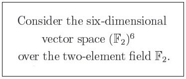 IMAGE- 'Consider the 6-dimensional vector space over the 2-element field,' from 'The Universal Kummer Threefold'