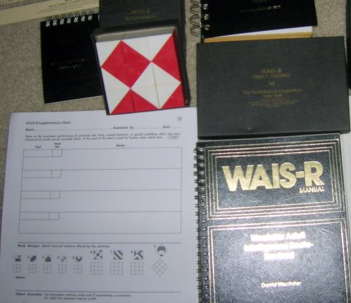 IMAGE- Wechsler block-design cubes and related WAIS-R manual