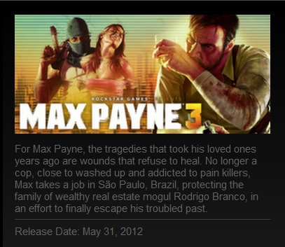 IMAGE- 'Max Payne 3,' a PC game set in São Paulo