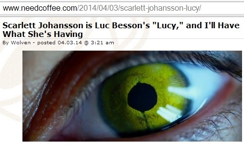 IMAGE- Commentary by 'Wolven' on Scarlett Johansson's 'Lucy' trailer, April 3, 2014