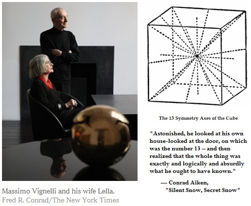 IMAGE- Massimo Vignelli, his wife Lella, and cube