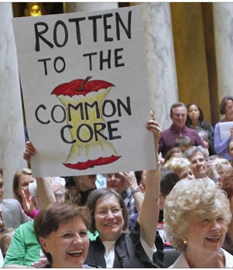 IMAGE- Sign: 'Rotten to the Common Core'