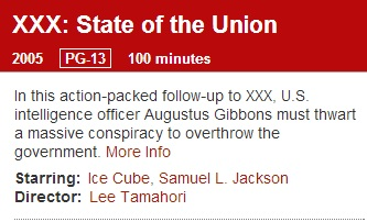 IMAGE- 'XXX: State of the Union'- description