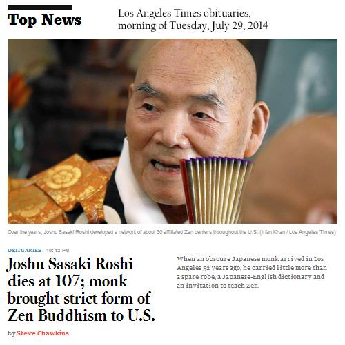 IMAGE- 'Monk brought strict form of Zen Buddhism to U.S.'