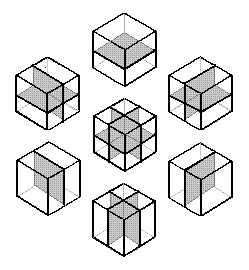 The seven natural eightfold-cube slicings, by Steven H. Cullinane