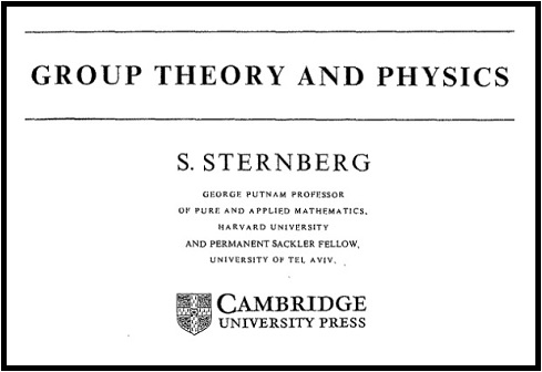 IMAGE- From title page of 1995 paperback edition of 'Group Theory and Physics,' by Shlomo Sternberg