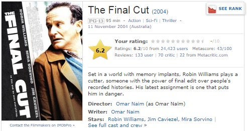 IMAGE- 'The Final Cut,' 2004, at IMDb